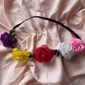 Bohemian elastic floral headband NWOT